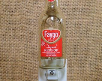 Faygo Redpop 12oz. Glass Bottle Night Light