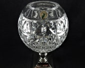Waterford Crystal Times Square 2000 Star of Hope Hurricane Lamp Candle Holder