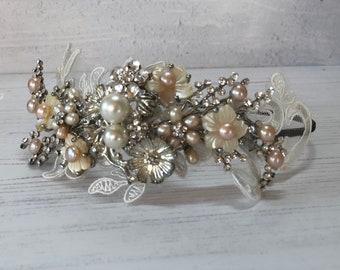 Austrian Crystal side headband Tiara Silver *NEW IN* UK Bridal//Bridesmaid