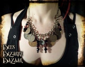 Steampunk pre decimal UK coin necklace