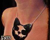 Cat Skull Necklace - Laser Acrylic
