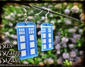 Tardis Earrings - Laser Acrylic - Dr.Who