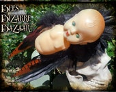 Baby Doll Fascinator - Cosplay - Burlesque - Alternative - Gothic - Steampunk - Weird - Creepy