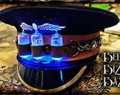 Steampunk Military Cap Hat - Airship - Tesla - Cosplay - Captain