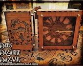 Alice in Wonderland Clock - Steampunk - Laser Cut