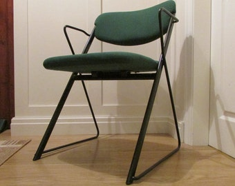 Ernest Race Vintage Chair in steel and hopsack cloth.  Ten available