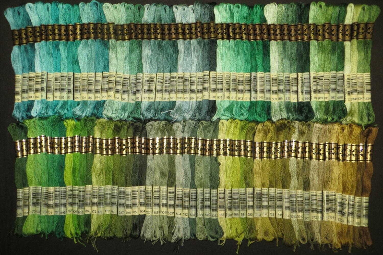 65 skeins DMC Cotton Embroidery Floss Kit - NO FAKES - 6-Strand ...