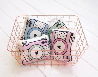 Camera Pillow Baby Rattle Toy Rattle Camera Pretend Play Camera For Kids Pretend Camera Strap Nursery Decor Baby Shower Gift Fabric Camera