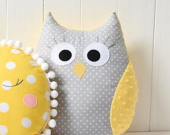 Owl Pillow Owl Cushion Owl Toy Christmas Gift Nursery Decor Nursery Decoration Plush Pillow Toy