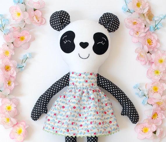 Panda Bear Panda Plush Stuffed Animal Panda Stuffed Animal Etsy
