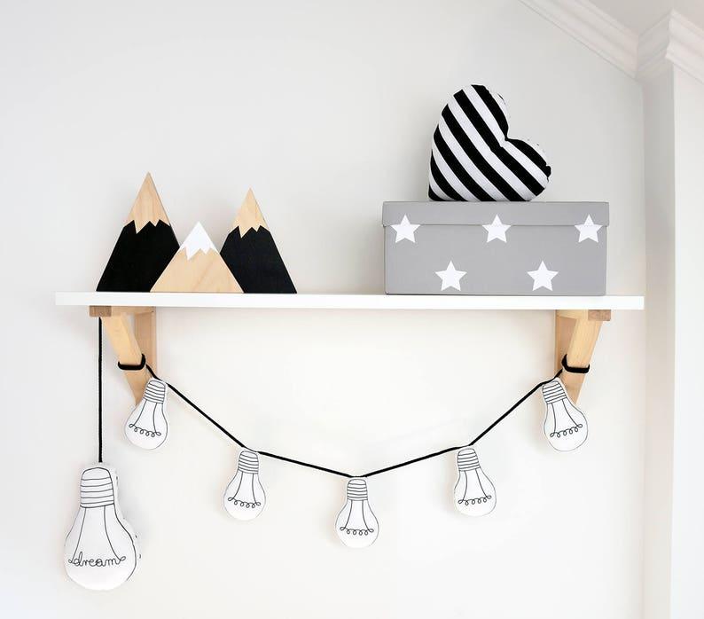 Guirlande ampoules pour chambre enfant - Créatrice ETSY : Jobuko