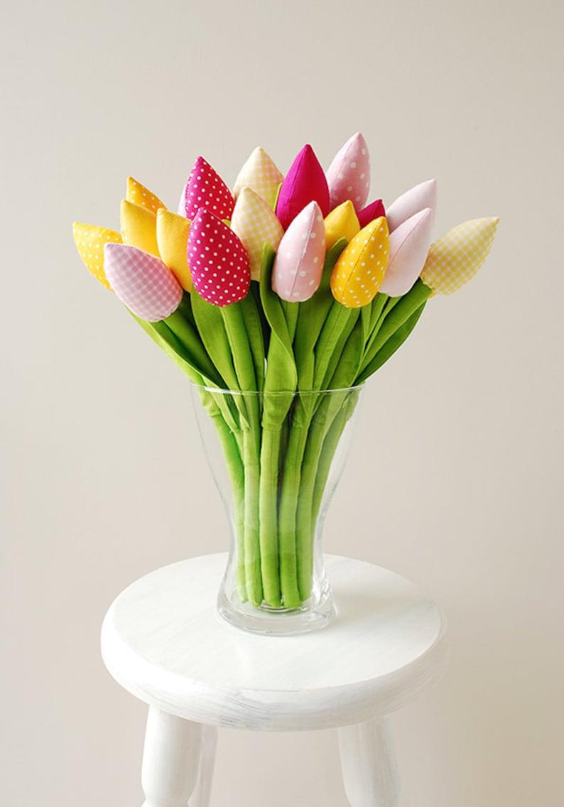 Bouquet de fleurs en tissus - Créatrice ETSY : Jobuko