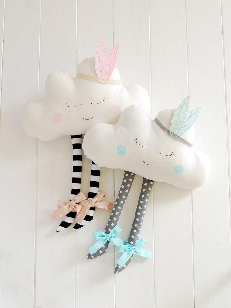 Coussin en forme de nuage - Créatrice ETSY par Jobuko