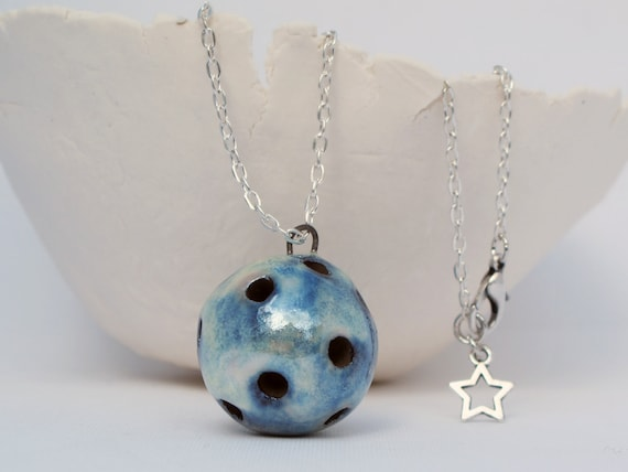 Aromatherapy pendant essential oil diffuser necklace ceramic etsy image 0 aloadofball Gallery