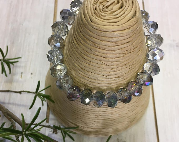 Sparkling crystal holiday bracelet