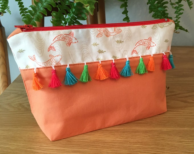 Handmade make up bag, cosmetics purse