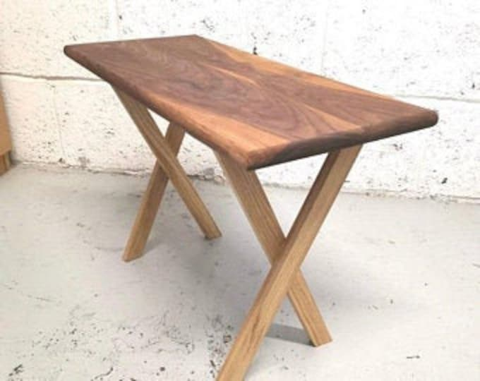 Walnut and Oak Side table, solid wood, handmade