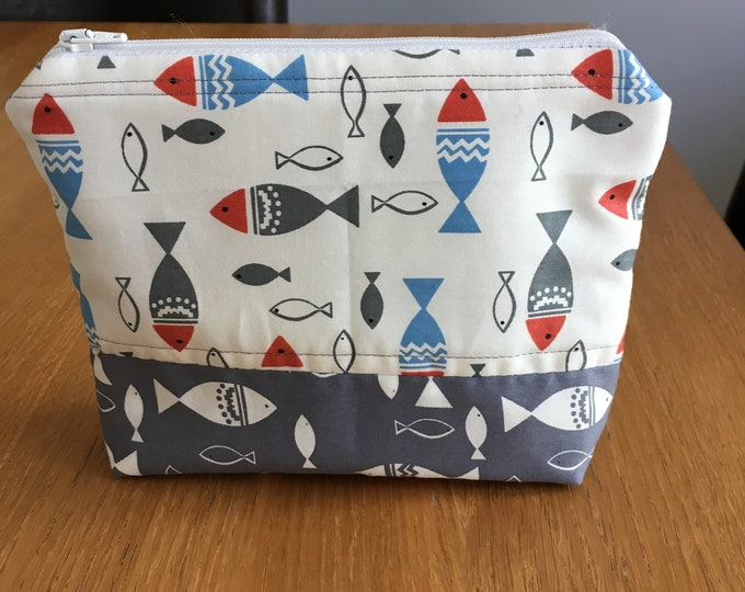 Handmade make up bag, cosmetics purse