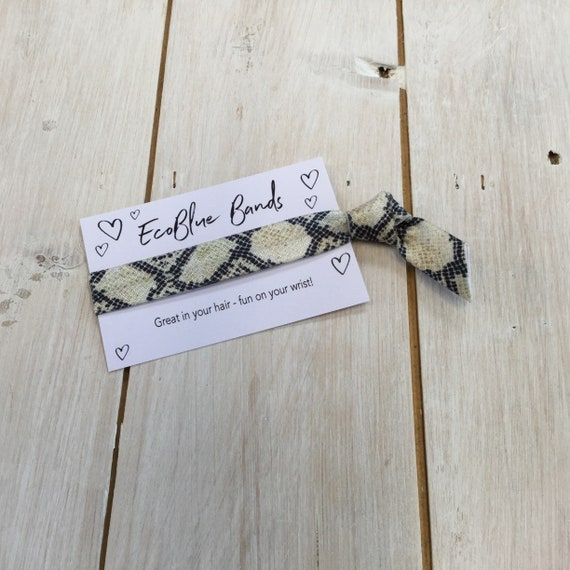 Animal Print, Glitter, Butterflies Hair Elastic, wristband, Yoga Ties,  friendship band (1 single hair tie on card)