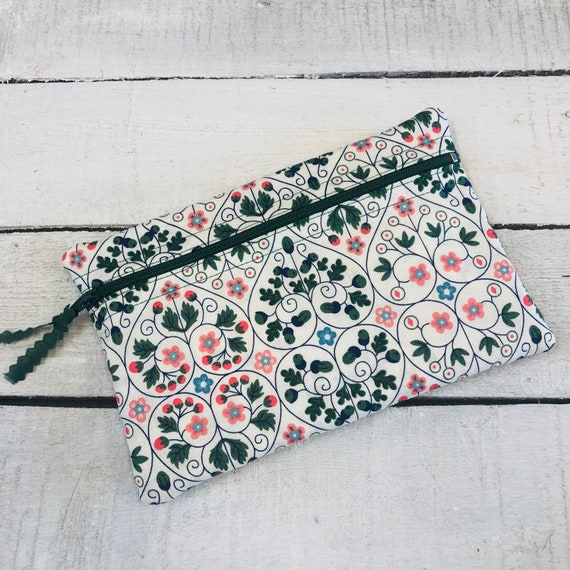 Liberty of London make up bag, cosmetic holder, small purse, soft cotton tana lawn, handmade.