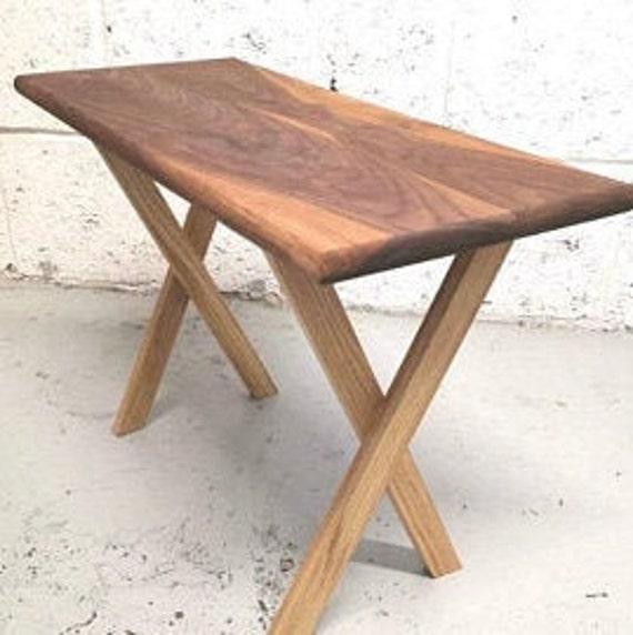 Side table - Handmade Walnut and Oak, solid wood