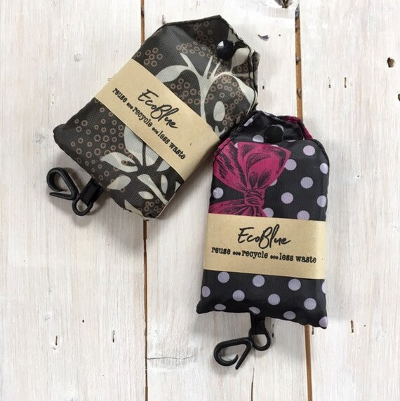 Shopping Bag - Reusable Lightweight - foldable in a pouch,  Eco Friendly, Zero Waste, Plastic Free
