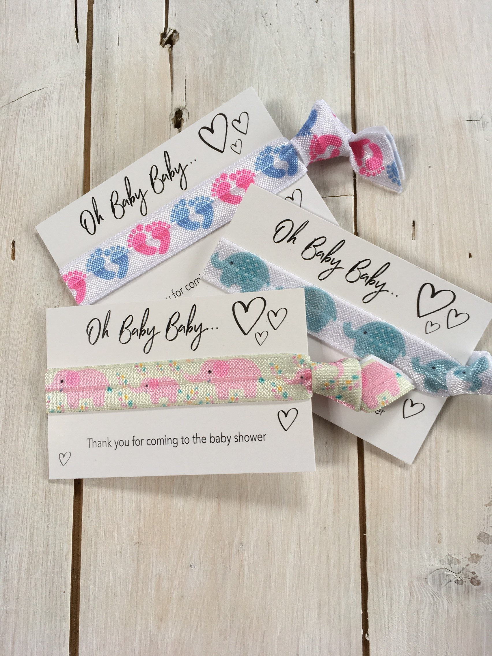 Baby Shower Gift Hair Elastics Party Favours Friendship Bands