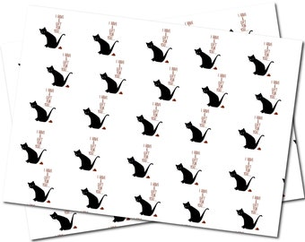 Funny Wrapping Paper Cat gift for you - 2 sheets of wrapping paper Gift Wrap for Adults with A Cheeky Sense of Humour - WRAP15