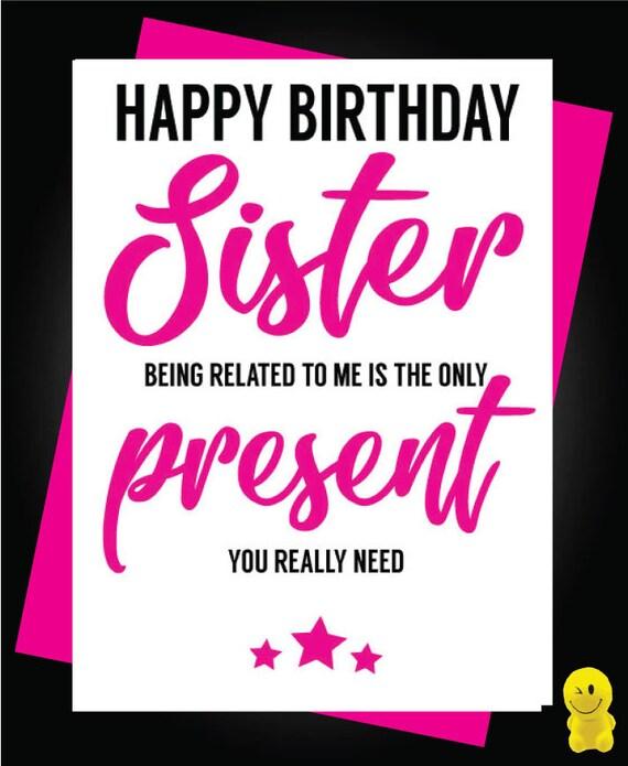 Funny Rude Birthday Card Sister Fart C467