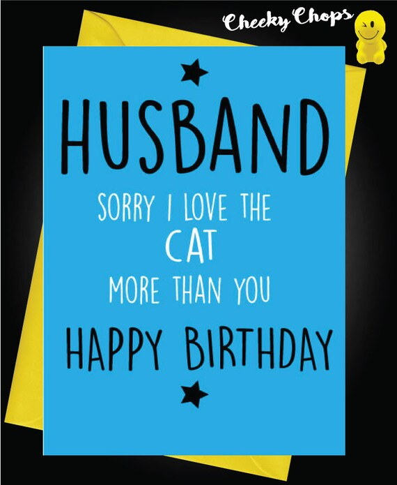 Funny Happy Birthday Husband Wife Card Novelty Comedy