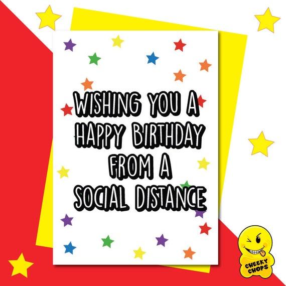 Personalised Lockdown Isolation Birthday Card Best Friend