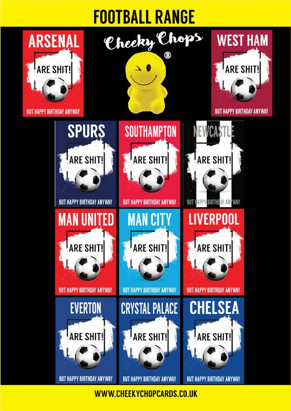 CHELSEA Joke Football Birthday Card Fan Supporter Humour Funny Rude Banter