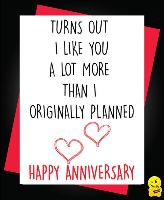 Greetings Card Anniversary Card Comedy Novelty Funny Humour