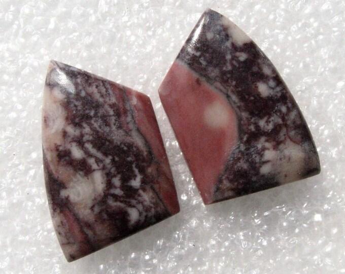 Dolomite jasper cabochons for earrings