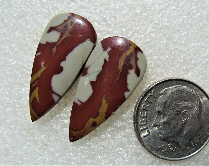 Noreena jasper cabochons for earrings