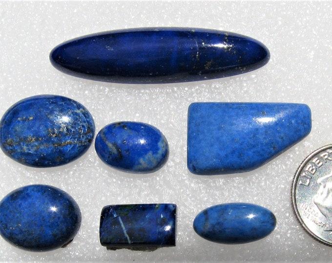 One group of Lapis Lazuli cabochons