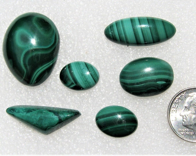 Malachite Cabochons Group