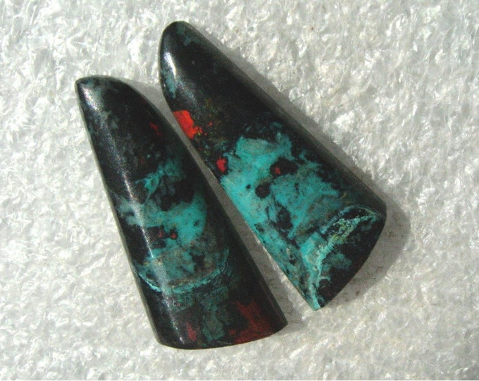 Long Sonoran Sunrise/Cuprite matching earring cabochons