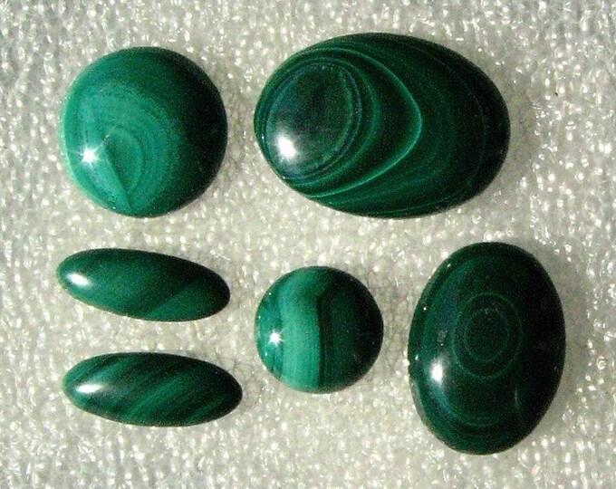 Malachite Cabochons Group