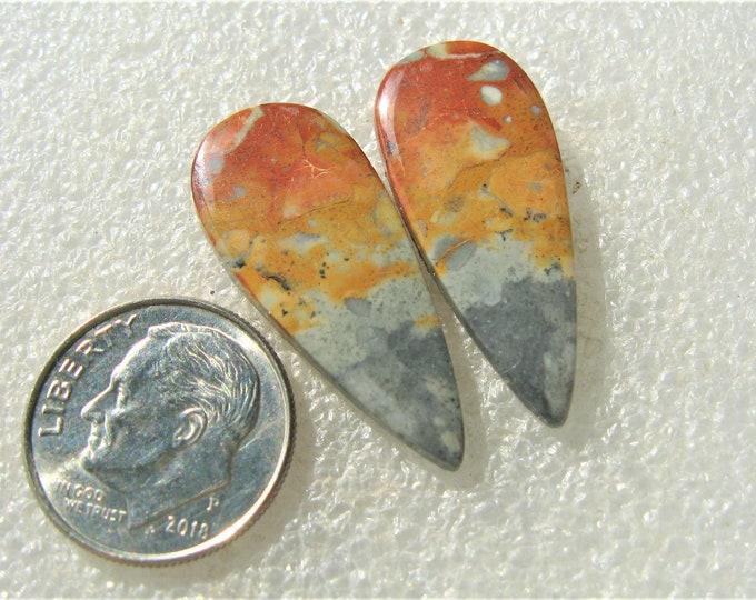 Maligano Jasper matched earring cabochons