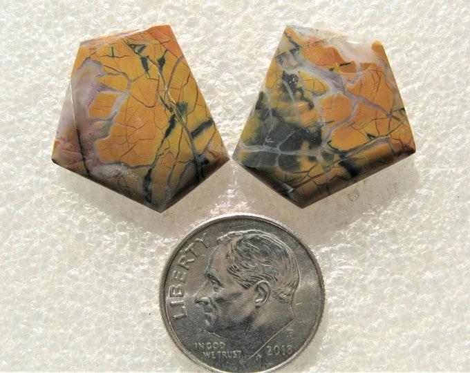 Stone Canyon jasper matched cabochon pair