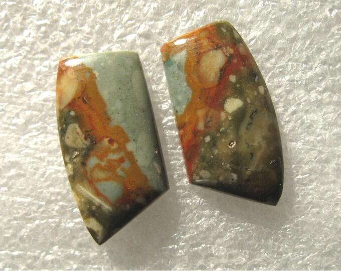 Rocky Butte Jasper earring cab pair