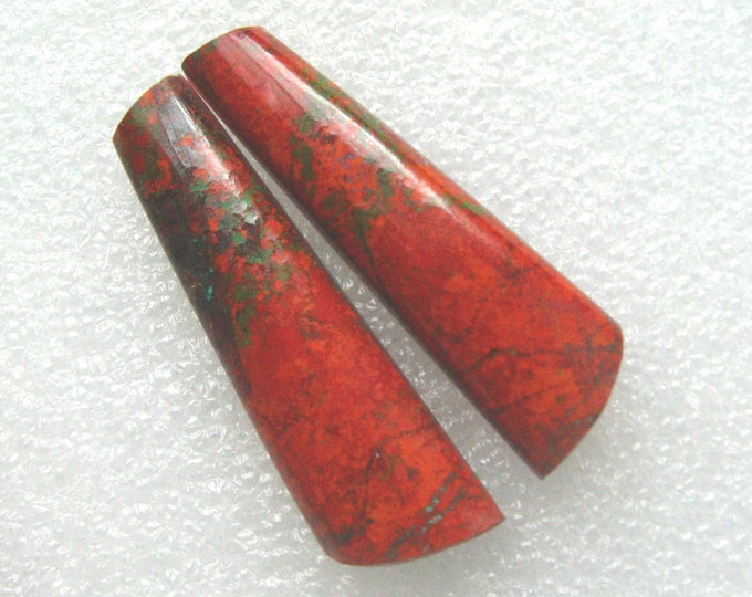 Long Sonoran Sunrise matching earring cabochons