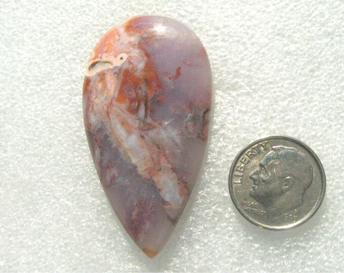 Unique Barbera Agate designer cabochon in lovely colors