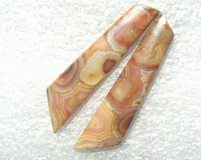 Crazy Lace Agate long earring cabochons