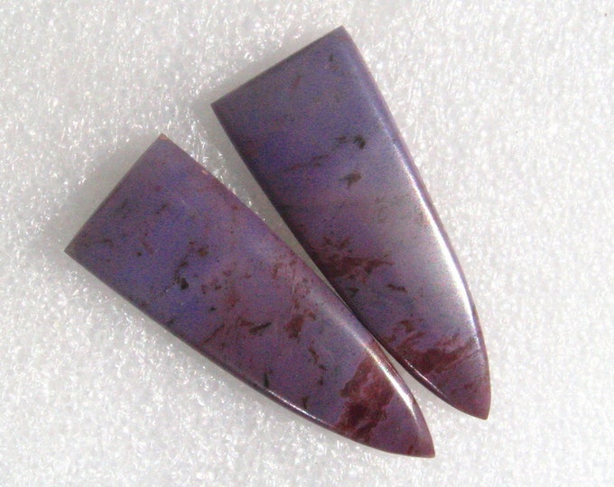 Lavender Jadeite long earring cabochons