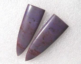 Lavender Jadeite long earring cabochons