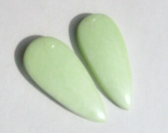 Lemon Chrysoprace earring cabochons