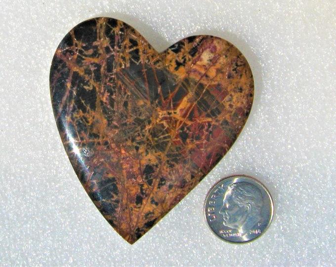 Pilbara Jasper Heart Cabochon