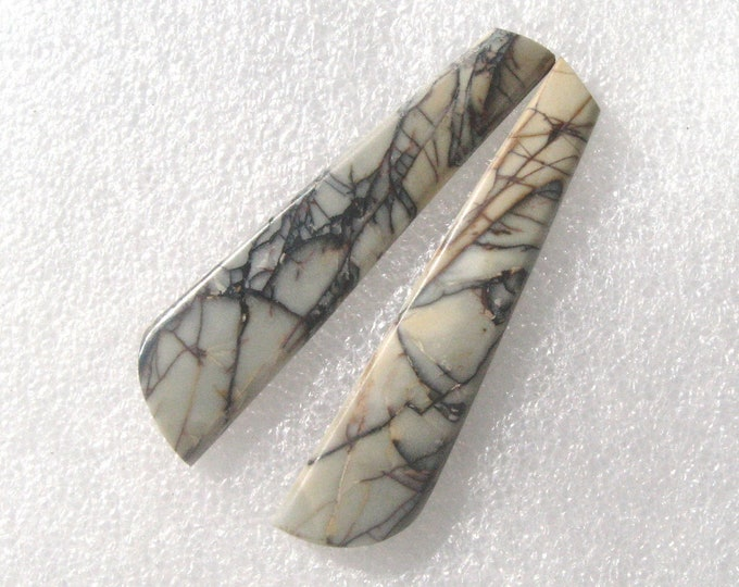 Picasso Marble matched long earring cabochons